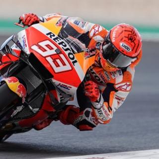 Moto da corsa Moto GP In curva Sponsor Repsol